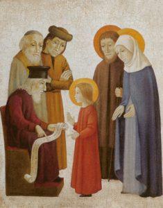 Der zwölfjährige Jesus lehrt im Tempel